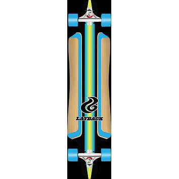 Layback Finish Line Bamboo Drop Thru -9.75x40 Blue Longboard