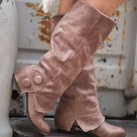 Bailey Favorite Button Boots (Taupe)
