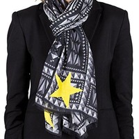 Givenchy Women's Prismed Pattern Silk Scarf Large
