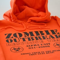 Zombie Hoodie Outbreak Response size Large or choice of S,M,L,XL,2XL,3XL