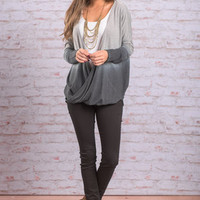 Switching Sides Top, Gray