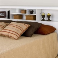 White King Bookcase Headboard