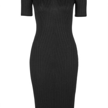 PETITE Travelling Ribbed Midi Dress - Topshop
