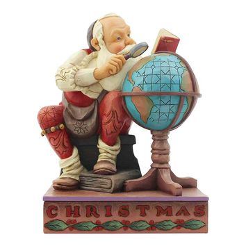 Saturday Evening Post by Jim Shore Santa With Globe – 6004484