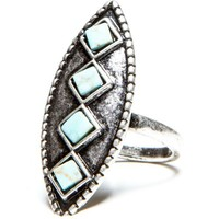 Vintage Diamond Turquoise Ring