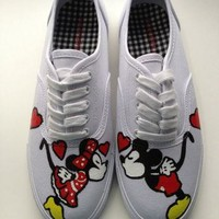 Size 7 IN STOCK - Hand Painted Mickey Mouse, Minnie Mouse & Disney Inspired Shoes Wome