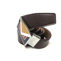 Fendi Monster Belt Men 38 Brown Leather Silver Buckle