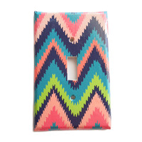 Bohemian Light Switch Cover - Switchplate Cover - Bohemian Chevron Colorful - Electrical Outlet Cover