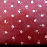 Vintage Peter Pan Fabrics Inc Flower Pattern Fabric Quilting Sewing Rose Pattern Floral Design Pink Cotton Blend Material