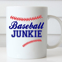Baseball Mug, Baseball Coach Gift, Baseball Coffee Mug, Gifts for Baseball Coaches, Baseball Junkie Mug, Baseball Gifts, Baseball Gift Ideas