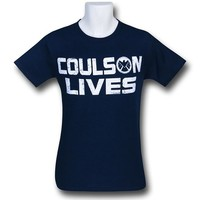 Mad Engine Men's Marvel Shield Coulson Lives T-Shirt