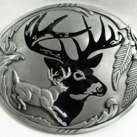 Belt Buckle - Deer Silhouette