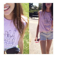 Skeleton Rock On Graphic Muscle Tee