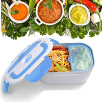 1.5L Portable Car Electric Lunch Box Food Heater Storage Container 40W 110V