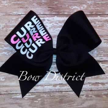 "3"" Breast Cancer Awareness Cheer Bow"
