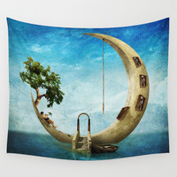 Home Sweet Moon Wall Tapestry by Diogo Verissimo