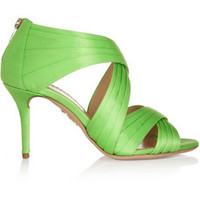 Charlotte Olympia Patricia pleated satin sandals – 60% at THE OUTNET.COM