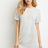 Marled Knit T-Shirt Dress