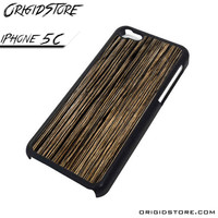 Wood Texture Black Case For Iphone 5C Case