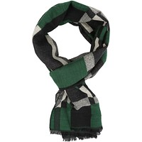 Sakkas Cayla Long Checker Box Lined Design Patterned UniSex Cashmere Feel Scarf