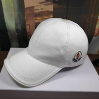 Moncler Men Women Cashmere baseball Hat cap White