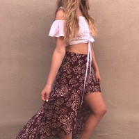 Get Lost Hi Lo Maxi Skirt