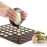 Pleasing Silicone Macaron Macaroon Pastry Oven Baking Mould Sheet Mat Mold