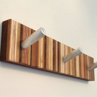 Striped Wooden Coat Rack