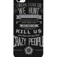supernatural Quote Phone Case