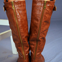 RESTOCK Giddy-Up Riding Boots: Copper | Hope's