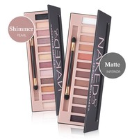 2017 Cosmetic Makeup Shimmer Matte Naked Palette Make Up 12 Colors Pigment Eyeshadow Palette Sombras Nudes Matte Eye Shadow