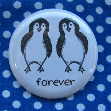 Forever Penguins - 2.25 inch pinback button badge