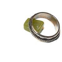 Stackable Spinner Ring in Beaded Sterling Silver R126