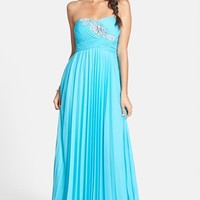 Way-In Embellished Pleat Strapless Go