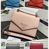 2020 new Prada Women leather Clutch Bag Wristlet Wallet Purse Leather Tote Handbag womens Shoulder Messenger Bags best quality