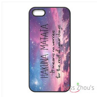 Hakuna Matata quotes Protector back skins mobile cellphone cases for iphone 4/4s 5/5s 5c SE 6/6s plus ipod touch 4/5/6