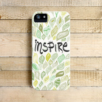 Inspire - Typography Phone Case for iPhone 4, 5, 5c, 6 Samsung Galaxy S3 & S4