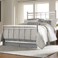HomeVance Kirby Height Bed Frame - Queen (Grey)