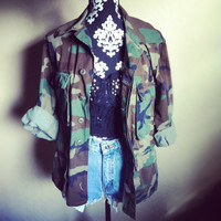 Hipster Vintage Army Camouflage Jacket by NewSpiritVintage on Etsy