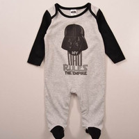 "Star Wars Darth Vader ""My Dad Rules The Empire"" Baby Infant Romper Sleeper"