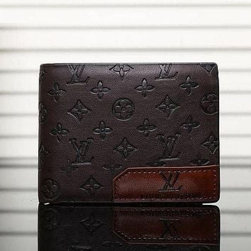 LV Louis Vuitton Retro Short Flip Wallet Fashion Men's and Women's Wallets Card Holder
