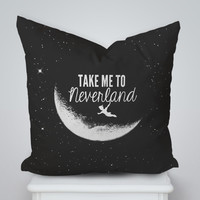 Take Me To Neverland Square Pillow Cover, Pillow Case, Cushions Pillow Cover, Home Decor Pillow, Bed Pillow