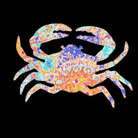 Lilly Crab Vinyl Decal ~ what can YOU decorate with this?  Possibilities are endless!!