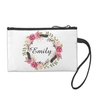 Bridal wedding bridesmaid bride personalized change purse