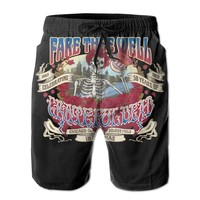 Fare Thee Well Celebrating 50 Years Of Grateful Dead Mens Fashion Casual Beach Shorts