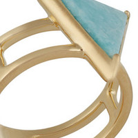 Elizabeth and James Metropolis gold-tone amazonite ring – 50% at THE OUTNET.COM
