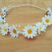Silk Daisy Floral Crown // Half