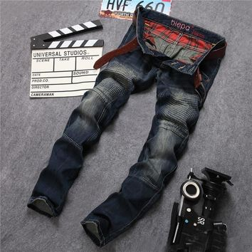 Jeans Korean Strong Character Vintage Mosaic Straight Jeans [6541850243]