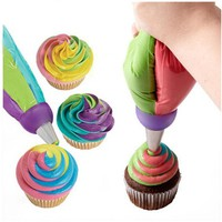 1pcs 3 Holes Mix 3 Colors Icing Piping Nozzle Converter Connector baking fondant cake decorating tools kitchen accessories