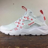 Nike Air Huarache Ultra LV x NIKE White Women Men Running Sport Casual Shoes Sneakers